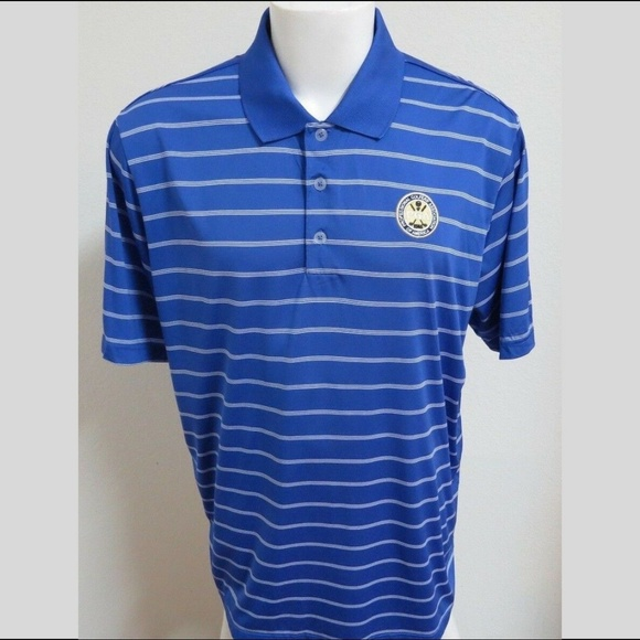 adidas Other - XL Blue Adidas PureMotion PGA Mens #89Z Golf Polo